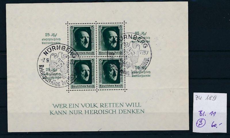 D.-Reich Nr. Block 11  -bitte Zettel beachten....    (zu189  ) siehe scan