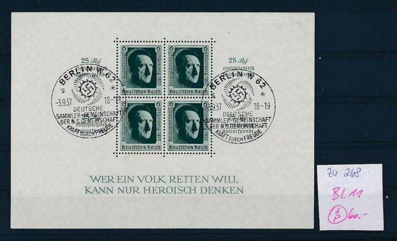 D.-Reich Nr. Block 11  -bitte Zettel beachten....    (zu268  ) siehe scan