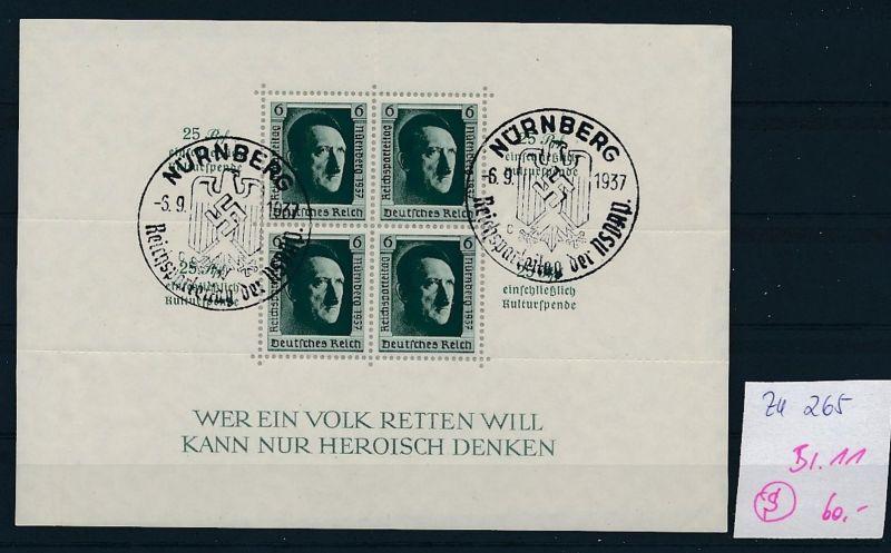 D.-Reich Nr. Block 11  -bitte Zettel beachten....    (zu265  ) siehe scan