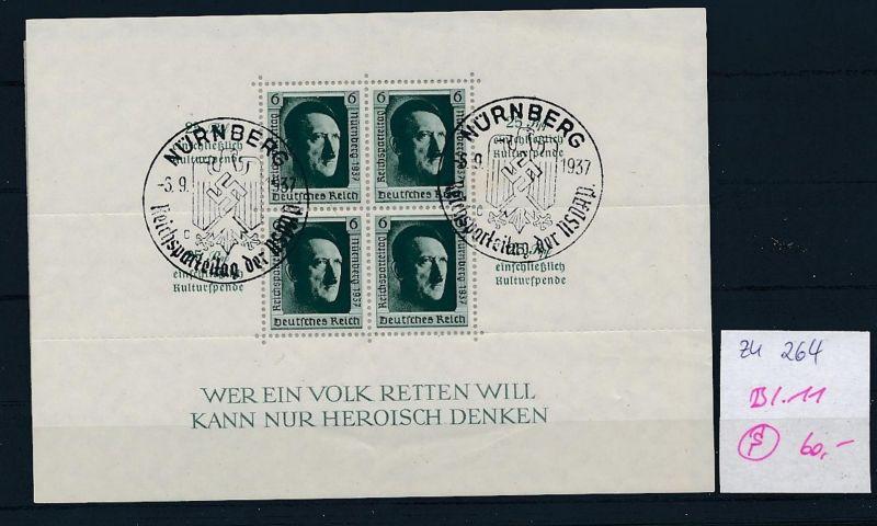 D.-Reich Nr. Block 11  -bitte Zettel beachten....    (zu264  ) siehe scan