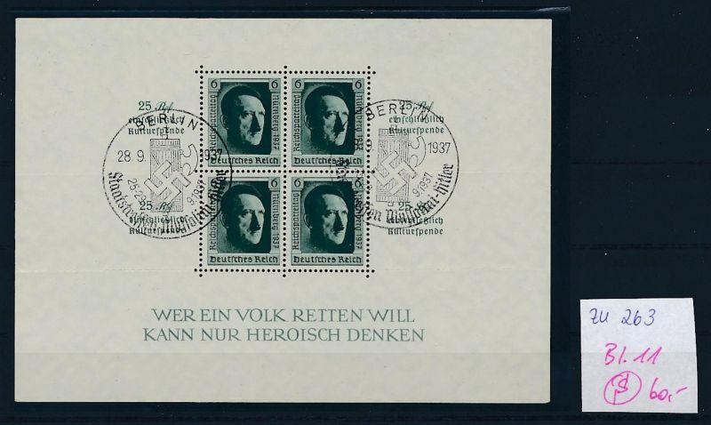 D.-Reich Nr. Block 11  -bitte Zettel beachten....    (zu263  ) siehe scan
