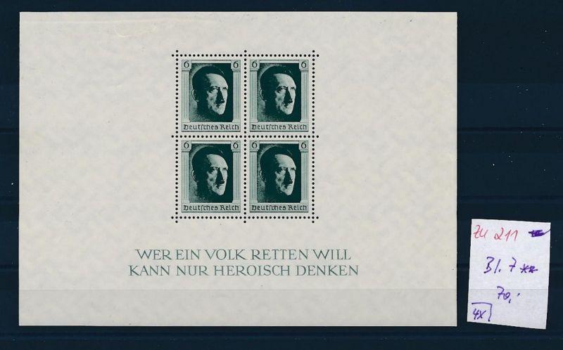 D.-Reich Nr. Block 7  -bitte Zettel beachten....    (zu211  ) siehe scan