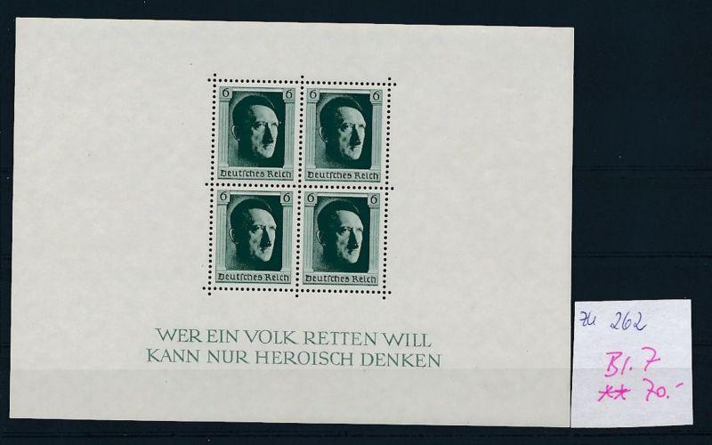 D.-Reich Nr. Block 7  -bitte Zettel beachten....    (zu262  ) siehe scan