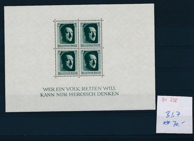 D.-Reich Nr. Block 7  -bitte Zettel beachten....    (zu238  ) siehe scan