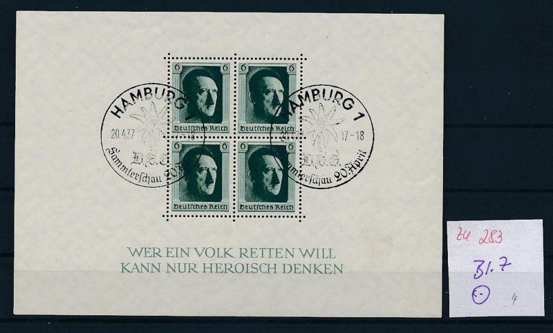 D.-Reich Nr. Block 7  -bitte Zettel beachten....    (zu283  ) siehe scan