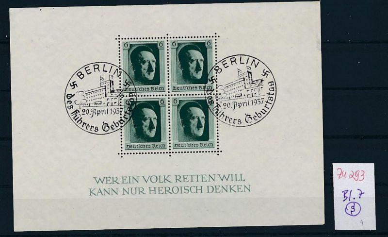 D.-Reich Nr. Block 7  -bitte Zettel beachten....    (zu293  ) siehe scan
