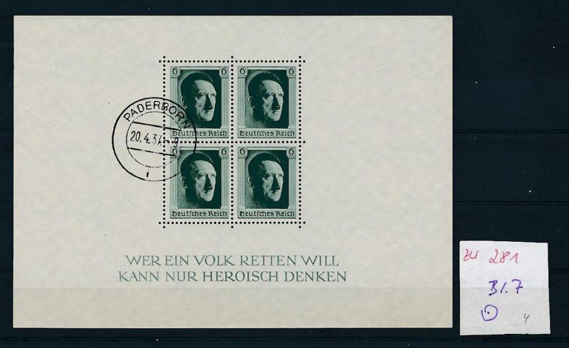 D.-Reich Nr. Block 7  -bitte Zettel beachten....    (zu281  ) siehe scan