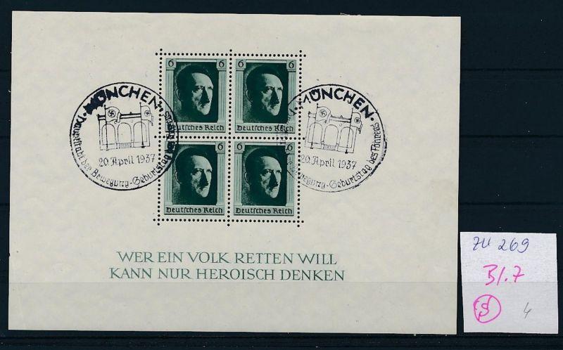D.-Reich Nr. Block 7  -bitte Zettel beachten....    (zu269  ) siehe scan