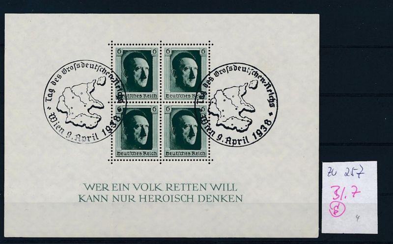 D.-Reich Nr. Block 7  -bitte Zettel beachten....    (zu257  ) siehe scan