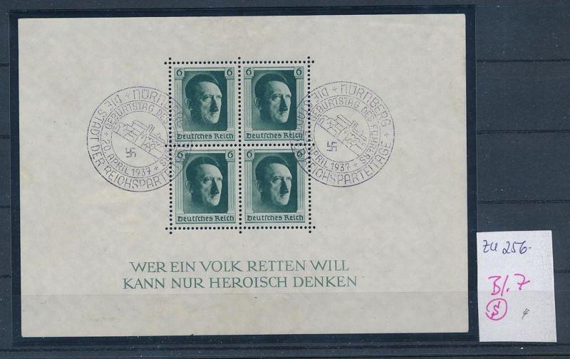 D.-Reich Nr. Block 7  -bitte Zettel beachten....    (zu256  ) siehe scan