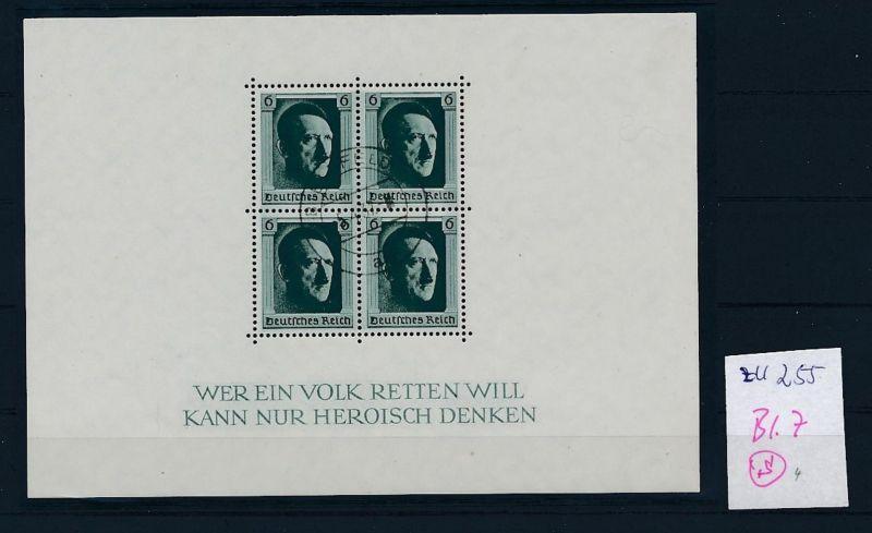 D.-Reich Nr. Block 7  -bitte Zettel beachten....    (zu255  ) siehe scan