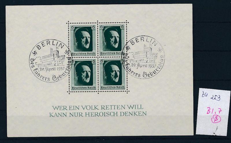 D.-Reich Nr. Block 7  -bitte Zettel beachten....    (zu253  ) siehe scan