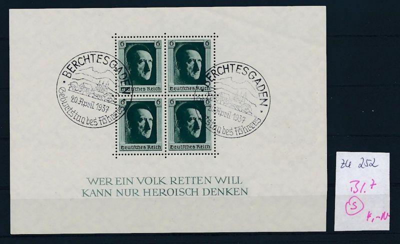 D.-Reich Nr. Block 7  -bitte Zettel beachten....    (zu252  ) siehe scan