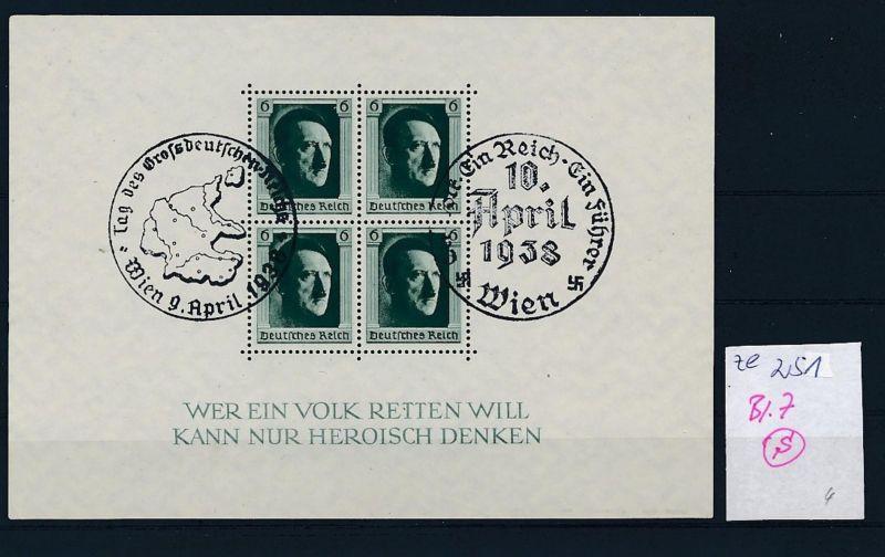 D.-Reich Nr. Block 7  -bitte Zettel beachten....    (zu251  ) siehe scan