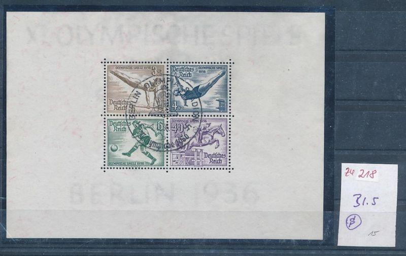 D.Reich  Nr. Block  5  o   (zu218  ) siehe scan