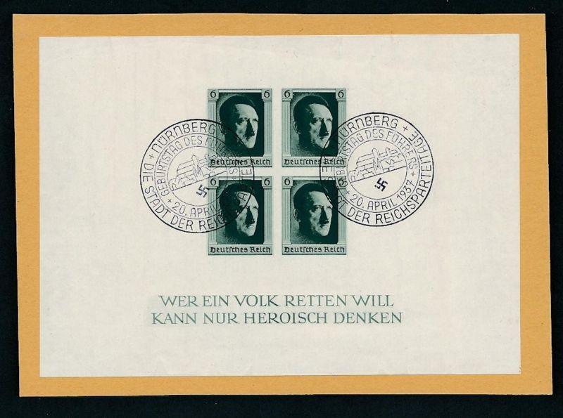 D.Reich  Nr. Block  8  o (zu299  ) siehe scan