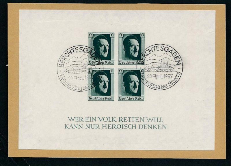 D.Reich  Nr. Block  8  o (zu296  ) siehe scan
