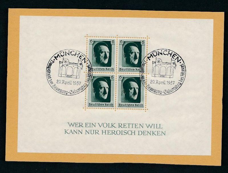D.Reich  Nr. Block  7  o (zu297  ) siehe scan