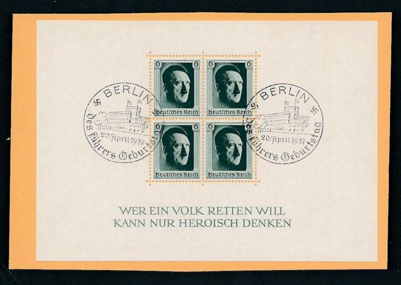 D.Reich  Nr. Block  7  o (zu298  ) siehe scan