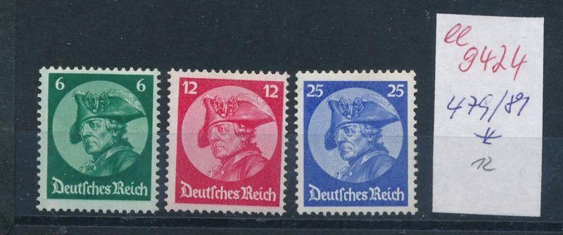 D.-Reich Nr. 479-81  *       (ee9424   ) siehe scan vergrößert !