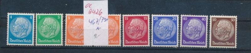 D.-Reich Nr. 467-73   *       (ee9426   ) siehe scan vergrößert !