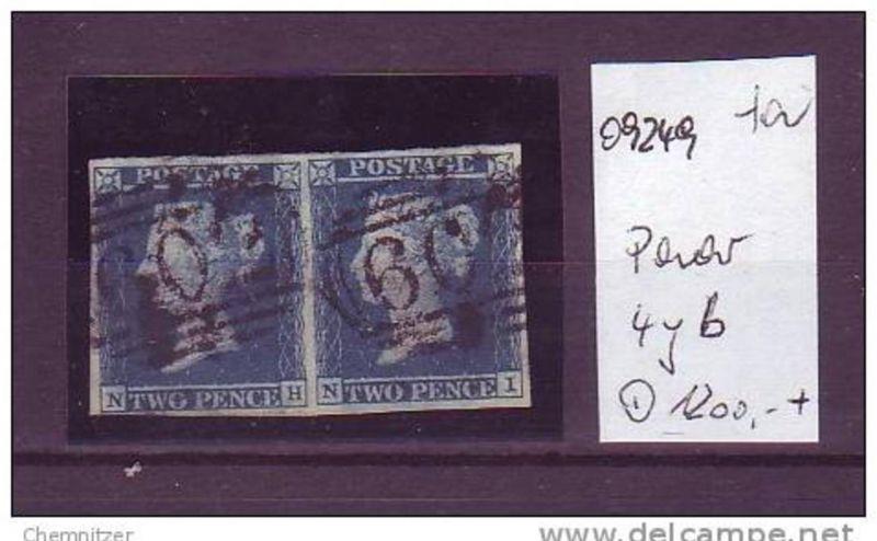 UK Nr.  4yb  Paar  o   (o9249   ) siehe scan -Plattennummern,Buchstaben sehen Sie am Bild