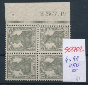 D.-Reich Nr. 4x98 mit HAN   **  (se7702 ) siehe scan !