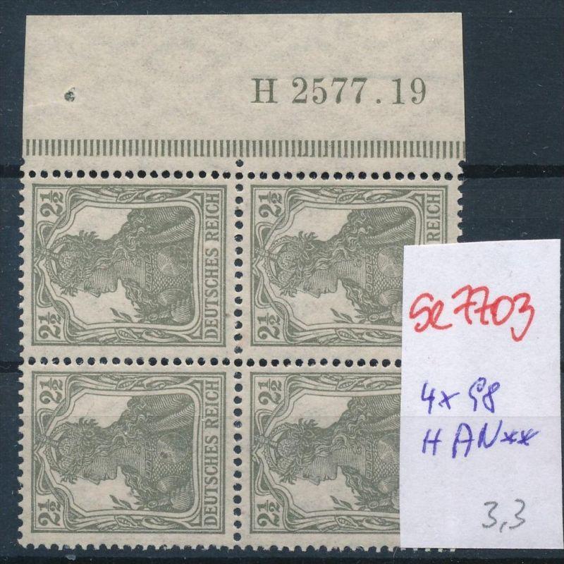 D.-Reich Nr. 4x98 mit HAN   **  (se7703 ) siehe scan ! 0