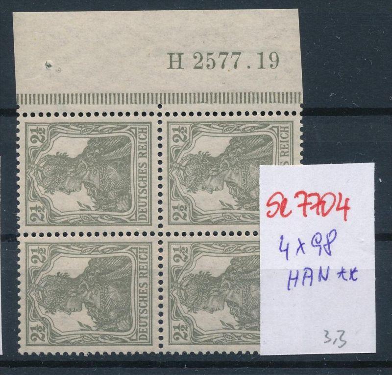 D.-Reich Nr. 4x98 mit HAN   **  (se7704 ) siehe scan !