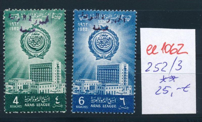 Jemen  Nr. 252-3 **    (ee1062 ) siehe scan ! 0