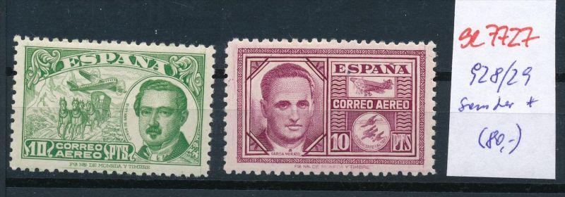 Spanien Nr. 928-9   * (se7727  ) siehe scan ! 0