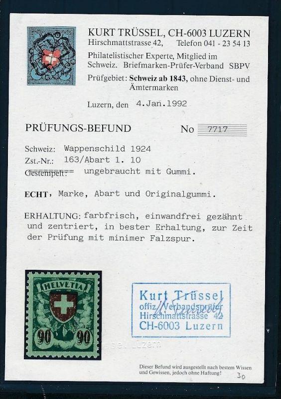 Schweiz  Nr. Zumstein   163.1.10  sauber *  (t9913  ) siehe Bild 0