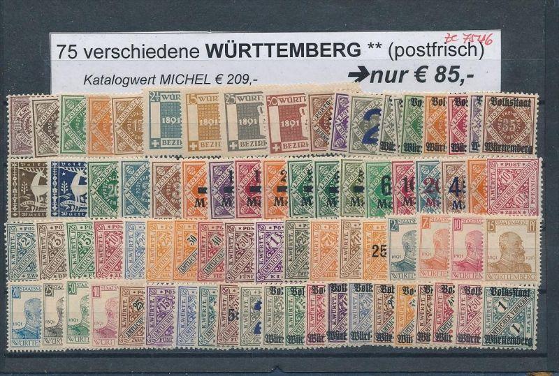 AD-Würtemberg schönes ** LOT     (ze7546  ) siehe Bild