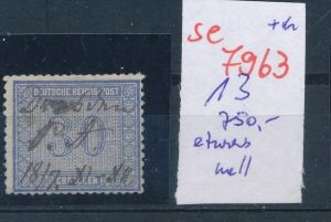 DR.-Nr.  13  -Federstrich   (se 7963  ) siehe Bild