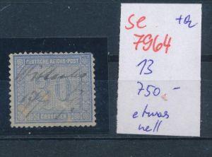 DR.-Nr.  13  -Federstrich   (se 7964  ) siehe Bild