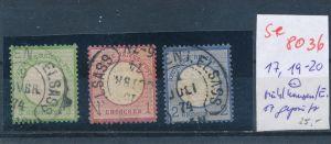 D.Reich-Stempel  !   (se 8036 ) siehe Bild