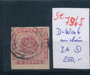 DK-Westindien Nr.3A   o      (se 7965 ) siehe Bild