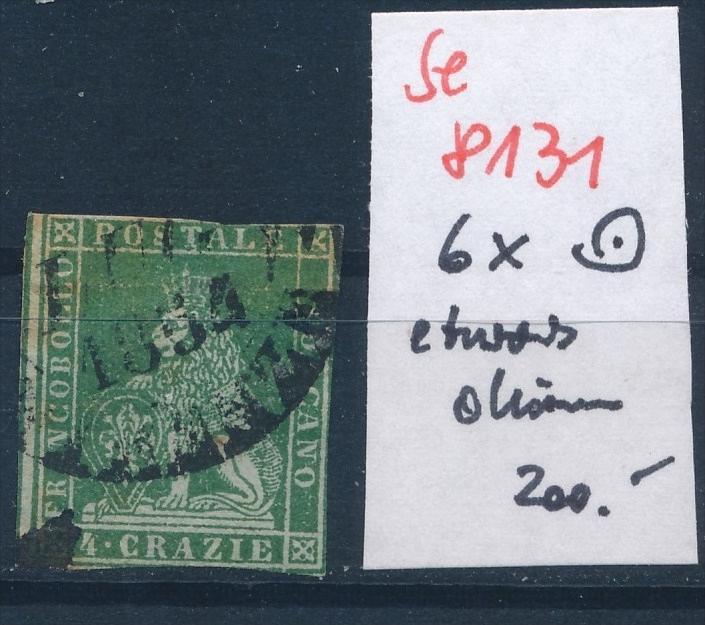 Toscana Nr.  6 x  o  (se 8131  ) siehe Bild