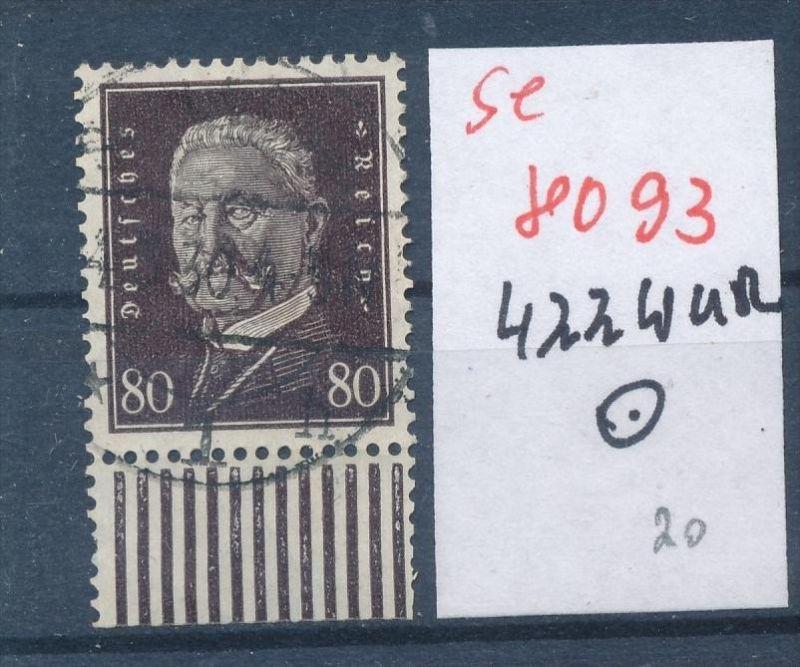 D.Reich Nr.  422 UR-Walze  o  (se 8093  ) siehe Bild 0