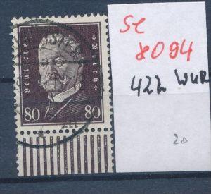 D.Reich Nr.  422 UR-Walze  o  (se 8094  ) siehe Bild