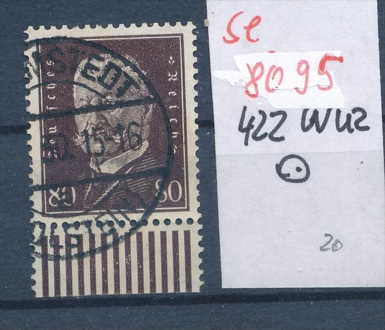 D.Reich Nr.  422 UR-Walze  o  (se 8095  ) siehe Bild