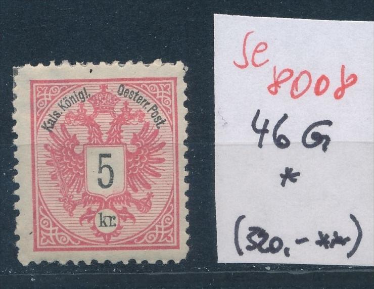Österreich Nr. 46 G *   (se 8008 ) siehe Bild 0