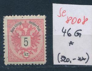 Österreich Nr. 46 G *   (se 8008 ) siehe Bild