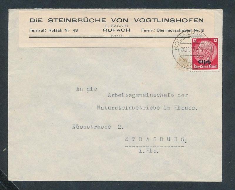 Esaß -Stempel Heimat Beleg  ( ze7213 ) siehe scan ! 0