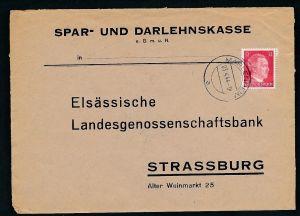 Esaß -Stempel Heimat Beleg  ( ze7075 ) siehe scan !
