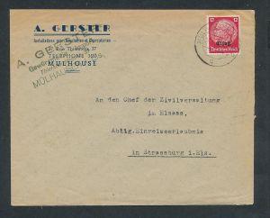 Esaß -Stempel Heimat Beleg  ( ze7066 ) siehe scan !