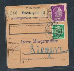 Esaß -Stempel Heimat Beleg  ( t9101 ) siehe scan !