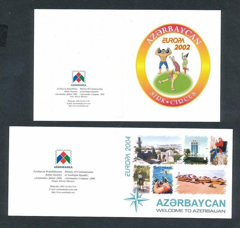 Asserbeidschan Heft Cept 2002 +2004  ** rar  ( t9076 ) siehe scan ! 0