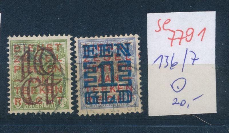 NL.- Nr. 136-7  .( se7791 ) siehe scan ! 0