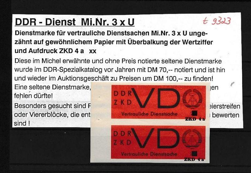 DDR Dienst     -nettes Lot       ( t9323 ) siehe scan !
